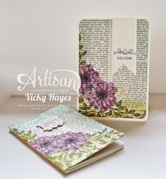 Stampin' Up ideas and supplies from Vicky at Crafting Clare's Paper Moments… Scrapbooking, Scrapbook Cards, Cool Paper Crafts, Craft Show Ideas, Beautiful Handmade Cards, Handmade Books, Stamping Up, Choose Happiness, Flower Cards