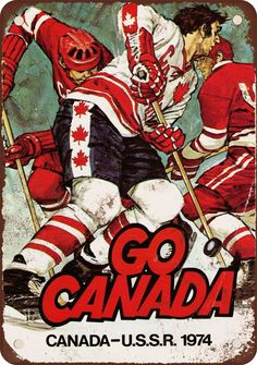 9 x 12 Metal Sign 1974 Canada vs. USSR Hockey Vintage Look Reproduction
