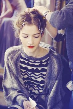 Backstage at Tsumori Chisato Ready-to-wear Fall Winter 2011/2012 show in Paris
