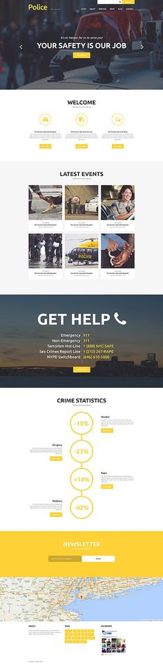 Police department site #Joomla #template. #themes #business #responsive