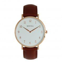 Klassisch, edel, zeitlos! Genau diese Adjektive beschreiben diese schöne Armbanduhr, die wirklich zu jedem Outfit und Anlass passt. Wie spät es ist? Ein Blick auf das weiße Zahlen-Ziffernblatt genügt. Das hochwertige Lederarmband mit Dornschließe wird Dich immer mehr begeistern, denn braunes Leder wird mit dem Alter noch schöner. Alter, Daniel Wellington, Watches, Outfit, Leather, Accessories, Numbers, Bracelet Watch, Classic