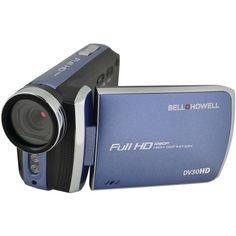 Bell+howell 20.0 Megapixel 1080p Dv30hd Fun-flix Slim Camcorder (blue) - MNM Gifts