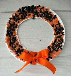 Easy Halloween wreath for kids