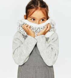 Image 1 of BLENDED KNIT SCARF from Zara