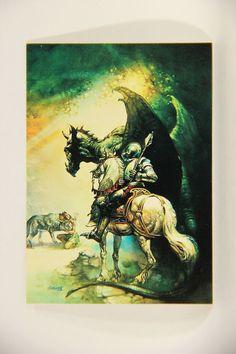 L011012 Boris Vallejo 1992 Card / Dragon & The George 1976 - Card #15 / ARTWORK