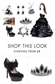 """""""The Black Swan"""" by kwonrena ❤ liked on Polyvore featuring Nina Ricci, Elie Saab and Black Swan"""