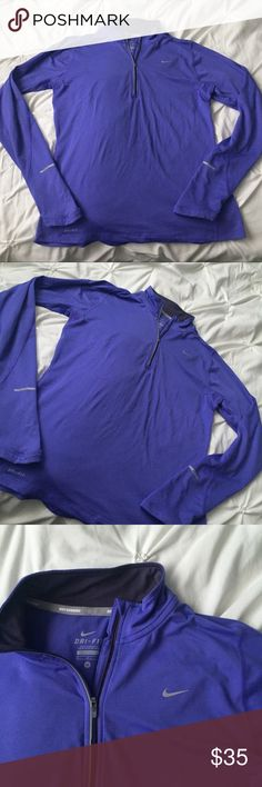 Nike Dri Fit Long Sleeve 1/4 Zip Pullover Purple Nike Dri Fit Long Sleeve 1/4 Zip Pullover Purple size medium - running, athletic, workout - with thumb holes!  ----- 🚭 All items are from a non-smoking home. 👆🏻Item is as described, feel free to ask questions. 📦 I am a fast shipper with excellent ratings. 👗I love bundles & bundle discounts. Feel free to make an offer! 😍 Like this item? Check out the rest of my closet! 💖 Thanks for looking! Nike Tops