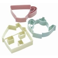 £3.95 Buy KitchenCraft Sweetly Does It Cookie Cutter Set - Tea Party Patterned Set of Three in Assorted Colours from our Baking Accessories range - Tesco.com
