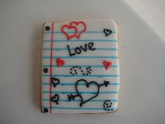 love notes by sugarlily cookie, via Flickr