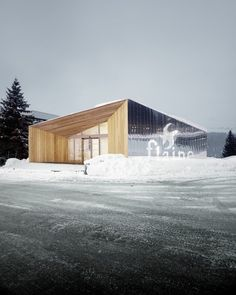 Pavillon acceuil De Flaine in Flaine, France / R-Architecture