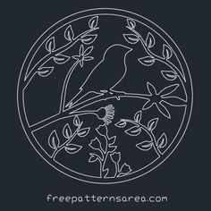 Bird Ornament Free 2D CAD Desing