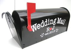 Items similar to Custom Wedding Card Mailbox - Wedding Card Box - Monogrammed Letter Box - Wedding Reception Card Box on Etsy Wedding Mailbox, Wedding Reception Cards, Wedding Gifts For Guests, Wedding Table Flowers, Card Box Wedding, Reception Seating, Wedding Receptions, Wedding Invitations, Wedding Decorations