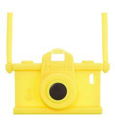 How much fun! - MOSCHINO Camera iPhone case (Yellow) #selfridges #yellow