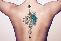 Product Information Product Type: Tattoo Sheet Tattoo Sheet Size: 19cm(L)*9cm(W) Tattoo Application & Removal Instructions Arrow Blue Turquoise Green Watercolor Bird Arrows Arrow Spine Back Temporary Tattoo