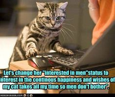 Hahahahaa... that would be ... INSANE! LOL! What happens when kitteh left alone, an password not secured...