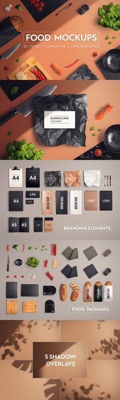 #food #mockup #restaurant #cook #cooking #design #collection #menu #temaplate #logo #brand Restaurant Branding, Logo Branding, Basic Tools, Logo Food, Food Packaging, Textured Background, Mockup, Overlays, Menu