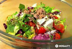 Könnyű tonhalsaláta Grétitől Cobb Salad, Salad Recipes, Beef, Chicken, Food, Healty Meals, Google, Salad, Meat