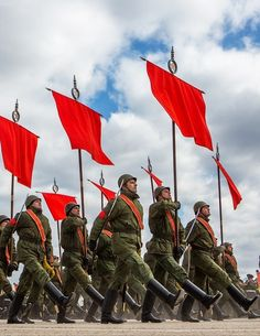 Rehearsal of the Victory Day Parade in Alabino near Moscow, Russia, April 2015.