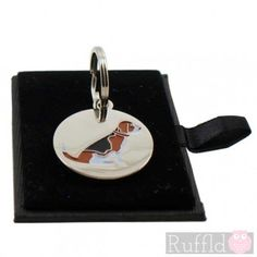 Dog ID Tag with Beagle Design by Sweet William
