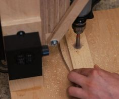 Making the Drill Press. Is It Worth It? [Build + Tests]: 17 Steps (with Pictures) Homemade Drill Press, Drill Press Stand, Workshop Layout, Workshop Ideas, Do It Yourself Projects, Wood Screws, Wood Glue, Woodworking Shop, Lego