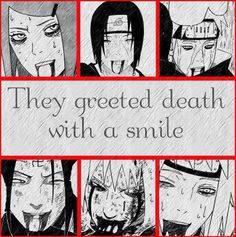 This made me want to cry. They all died protecting someone they loved. Rip Kushina, Minato, Itachi, Yahiko, Jiraiya, Neji. We will miss you.