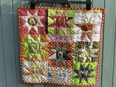 grumpystitches: wonky star mini quilt by mybearpaw on Flickr.