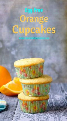 Step-by-step recipe with pictures to make eggless orange cupcakes. How to make eggless orange cupcakes. How to make orange cupcakes without eggs. Eggless Muffins, Eggless Desserts, Eggless Recipes, Eggless Baking, Homemade Muffins, Orange Cupcakes, Orange Muffins, Banana Cupcakes, Cupcake Recipes