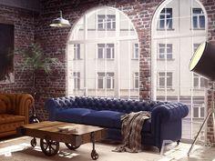 Salon w stylu modern loft - zdjęcie od FrancescoDesign