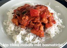 #Kip #tikka #masala, van kruidige #kipfilet met magere #yoghurt, #passata, Mexicaanse #groenten en #knoflook met #basmatirijst.