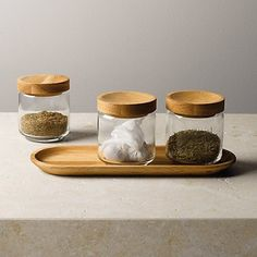 Pantry Glass Jars & Tray   The White Company