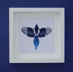 Magpie - an original lino print by AlinaBjelos on Etsy