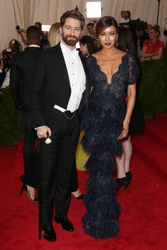 Matthew Morrison- Okay playa and Renee Puente- Her legs look like fused into one in that pose lol but I like the lace top piece of the dress