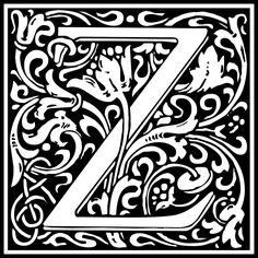 http://openclipart.org/detail/191773/william-morris-letter-z-by-kuba-191773