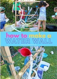 A DIY water wall is