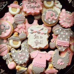 Galletas niña baby shower