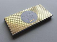 Print : Badcass - Design : Bowe - Carte de voeux en letterpress - #marquageàchaud #dorure