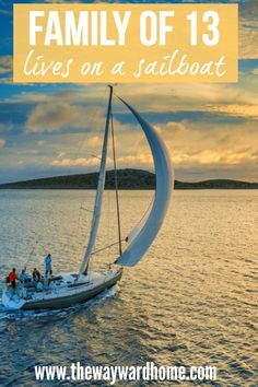 This family of 13 lives onboard a 43' sailboat and travels around Australia on their sailboat adventure. Click through to read more about the joys, struggles and dreams of sailboat living. Could you do it? #sailboat #boating #sailing #travel via @thewaywardhome