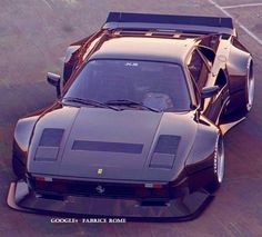 Damn is this thing real or photoshopped. Either way this Ferrari looks badass tho. cars The post Damn is this thing real or photoshopped. Either way this Ferrari looks badass t appeared first on Ferrari Photos. Ferrari 288 Gto, Lamborghini Cars, Bugatti, Wide Body, Unique Cars, Sweet Cars, Modified Cars, Amazing Cars, Awesome