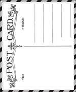 Sweet little post card stamp! Prima-950613