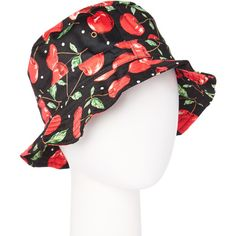 2b26a7eb984 Jeanne Simmons Accessories Red   Black Cherry Bucket Hat ( 9.99) ❤ liked on  Polyvore featuring accessories and hats