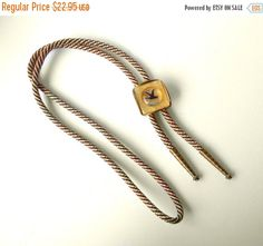 Vintage Bolo Western neck tie with Intaglio by MargsMostlyVintage Vintage Brooches, Vintage Earrings, Vintage Jewelry, Bolo Tie, Westerns, Buy And Sell, Gifts, Stuff To Buy, Polka Dot Bow Tie