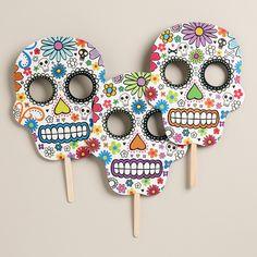 Day of the Dead Skull Masks, Set of 3 | World Market ideas for the masks :)