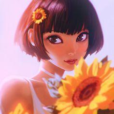 Sunflower by Kuvshinov-Ilya on DeviantArt