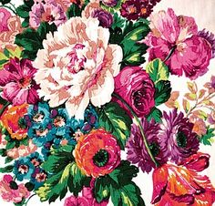 floral fabric swatch