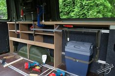 Cool Box and Cabinets under Construction for the Campervan