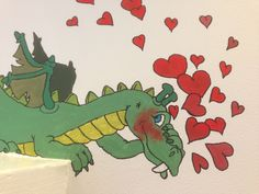 And a girls dragon needs a boy dragon IN love 💕 Wall Paintings, Dragon, Wallpaper, Girls, Handmade, Toddler Girls, Hand Made, Wall Murals, Daughters