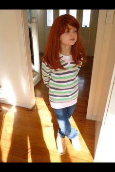 Jasmine rocking a red wig!