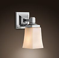 RH's Wall:At Restoration Hardware, you'll explore an exceptional world of high quality unique bath sconces. Browse our selection of bathroom sconce lights & more at Restoration Hardware. Hallway Sconces, Bathroom Sconce Lighting, Bathroom Sconces, 1920s Bathroom, Bathroom Wall, Bathroom Ideas, Downstairs Bathroom, Bath Ideas, Bathroom Inspiration