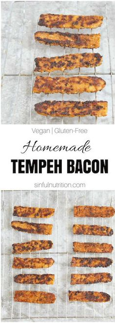Homemade Tempeh Bacon -- An easy #plantbased recipe made in 15 minutes, no oven, or marinating time required! The perfect smoky and crispy addition to breakfast, a sandwich, salad, and more!   #vegan   #vegetarian   #glutenfree   #tempeh   #soy   #breakfast   #bacon   @sinfulnutrition