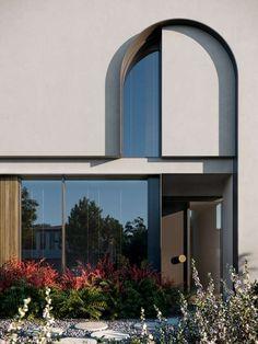 Arch Interior, Apartment Interior Design, Santorini Luxury Hotels, Arch Architecture, Lobby Design, Industrial House, Facade House, Modern Exterior, House Design